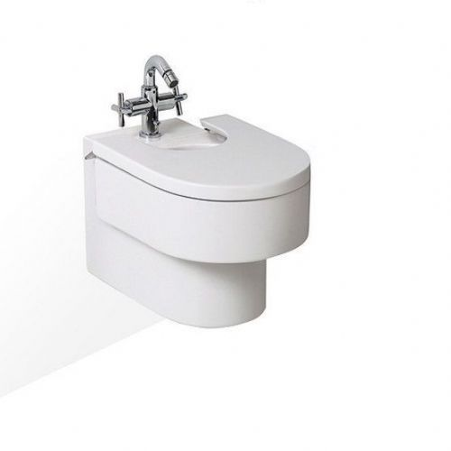 Roca Happening Wall Hung Bidet - Bidet Cover - 1 Tap Hole - White